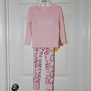 Rae Dunn ADORABLE. girls Pajama Set, Sz 5